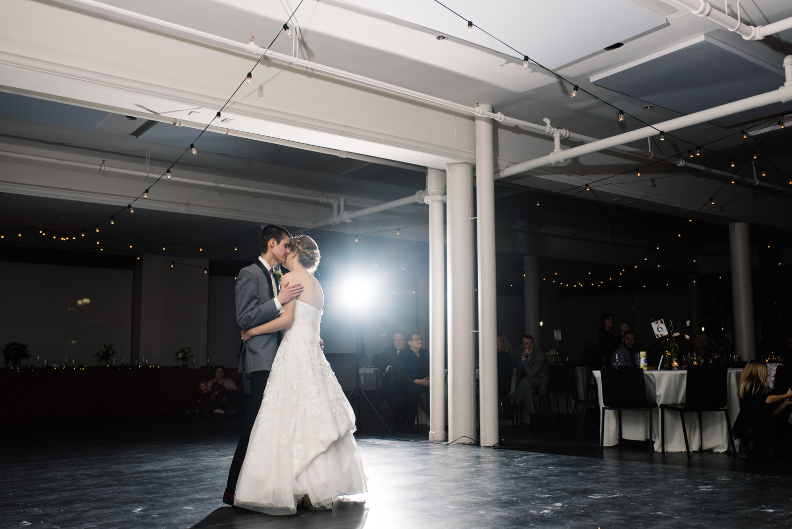 bride and groom first dance eastbank venue & lounge wedding
