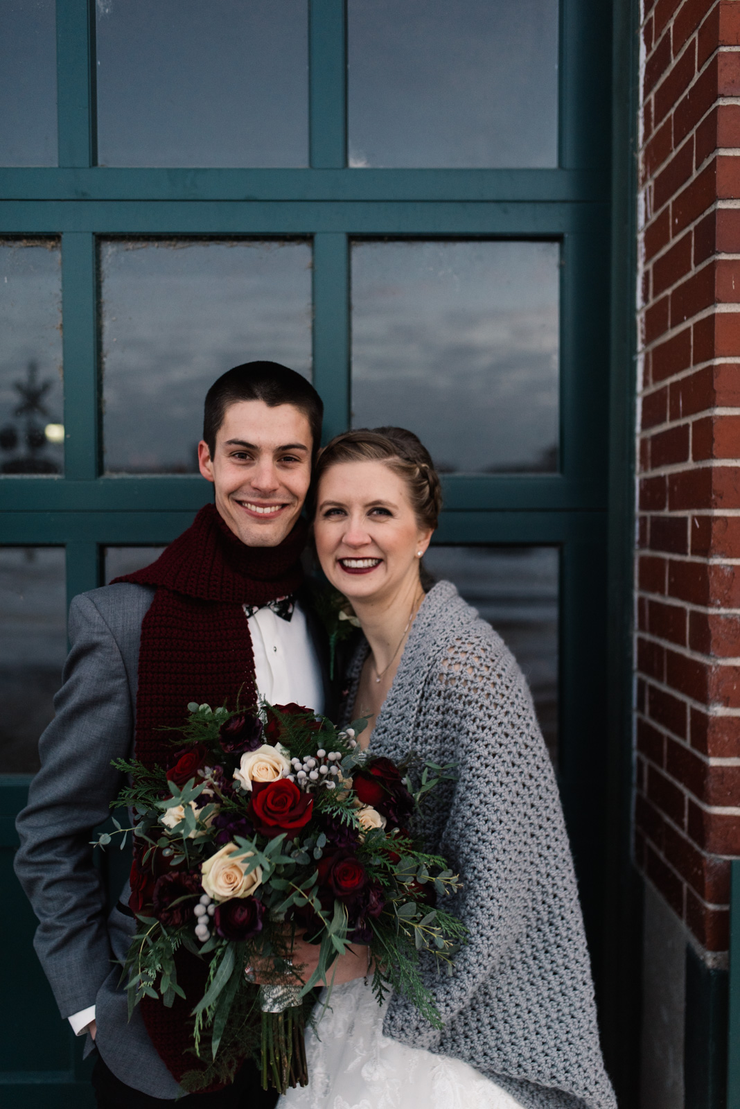 cedar rapids winter wedding newbo