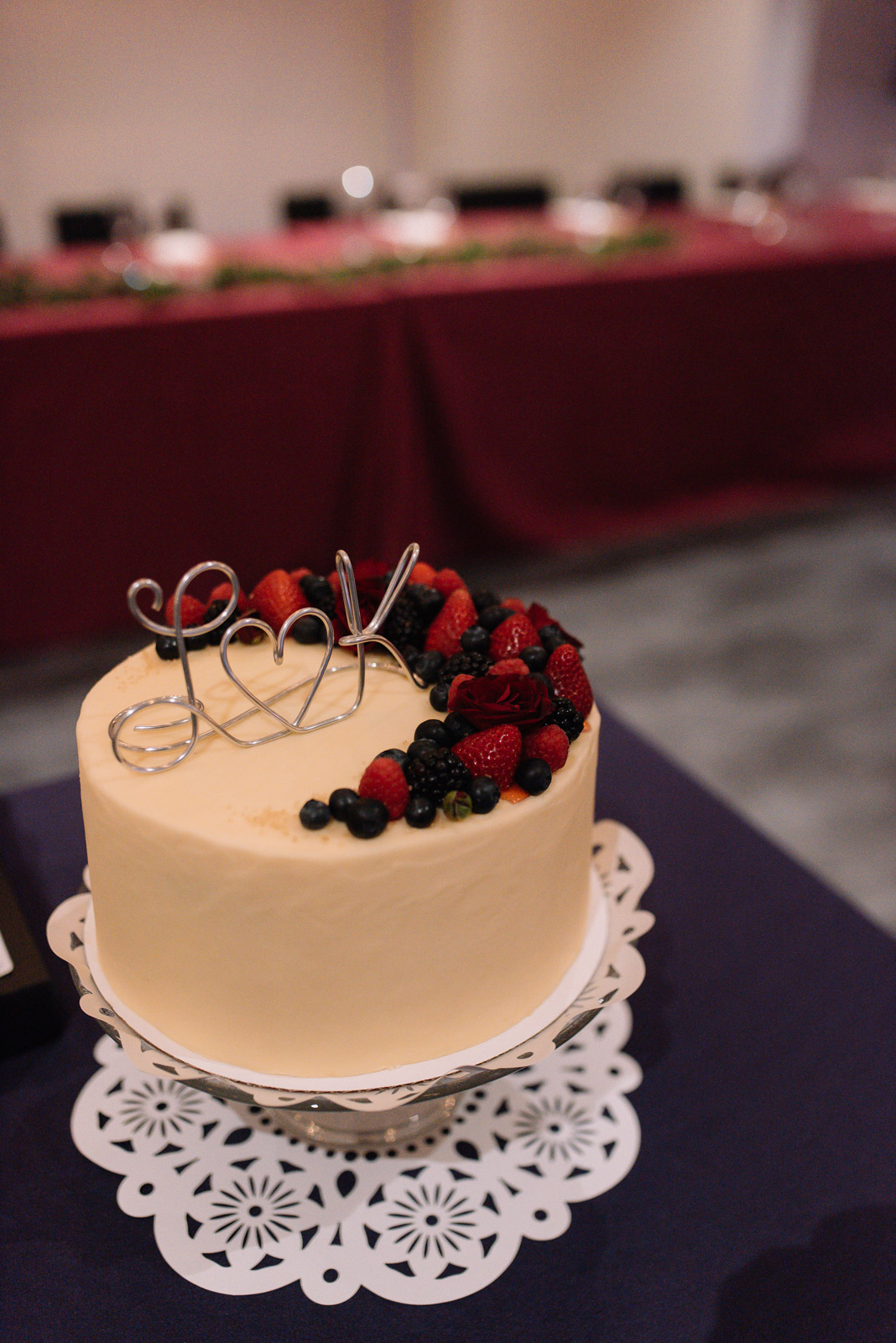wedding cake with fresh fruit