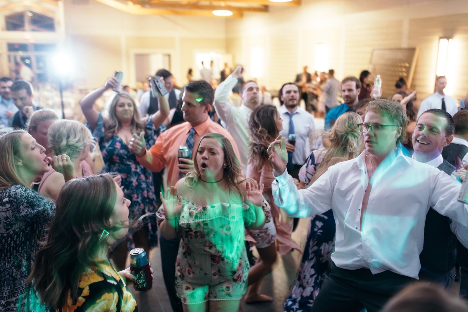 wedding guests dancing cedar rapids wedding venue