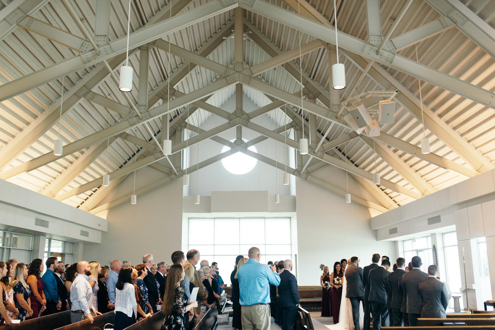 St. John XXIII Parish Sanctuary wedding ceremony
