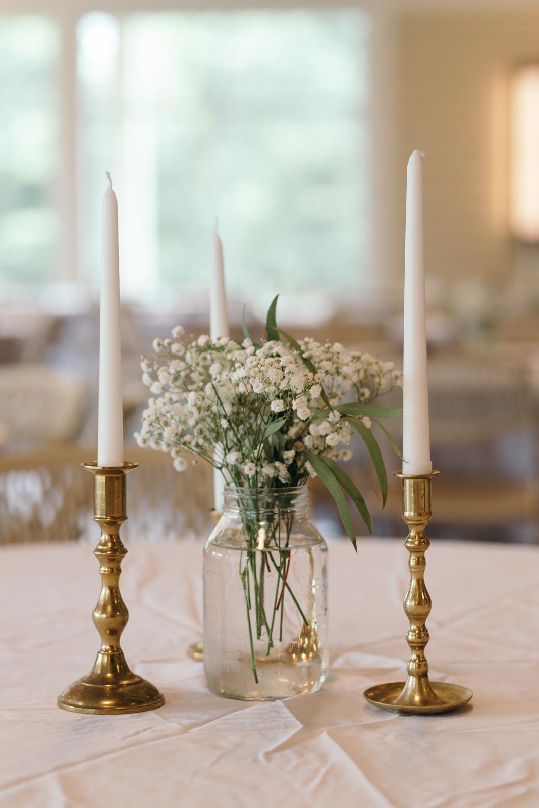 Ushers Ferry Historic Village Wedding Reception table decor
