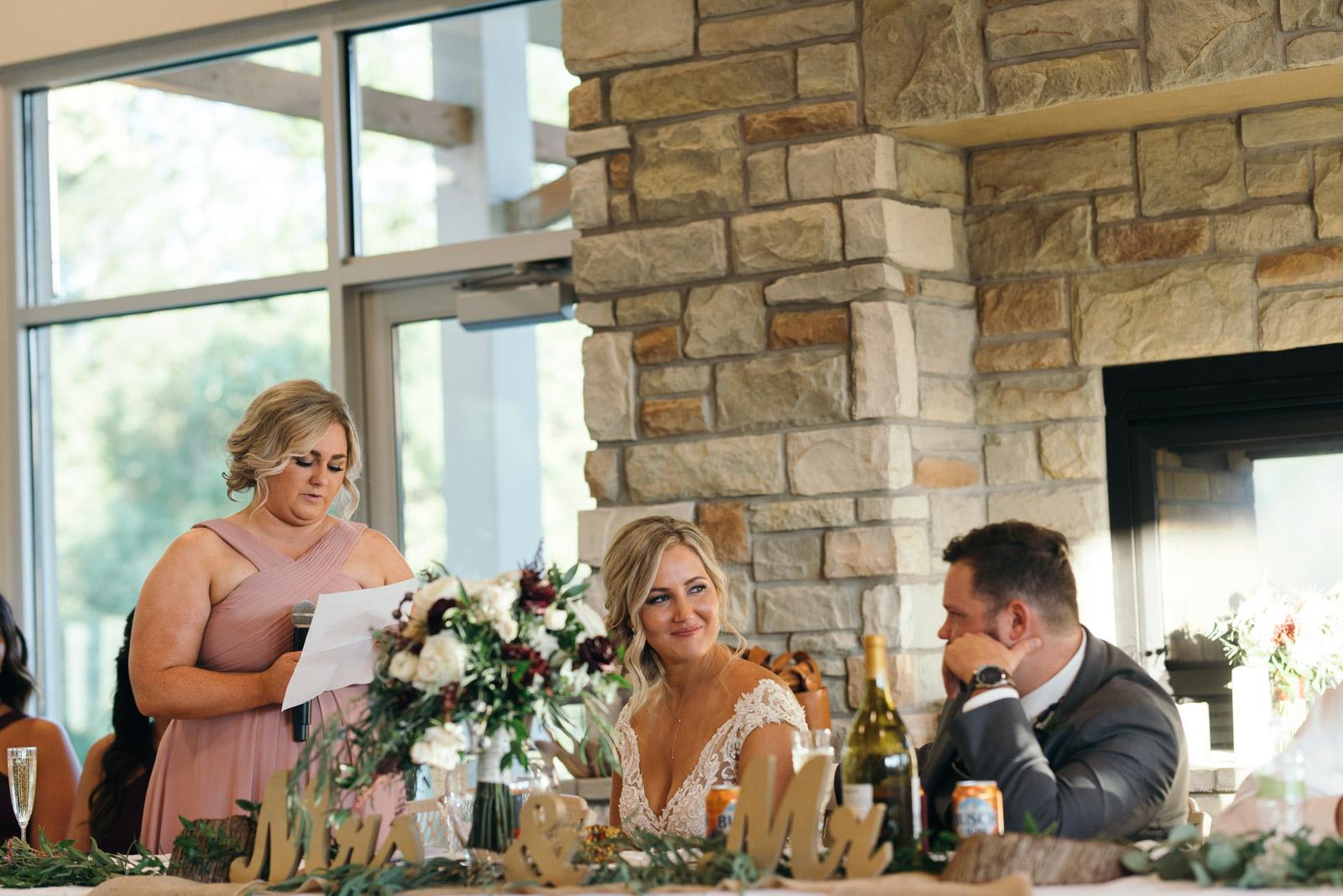maid of honor speech cedar rapids wedding
