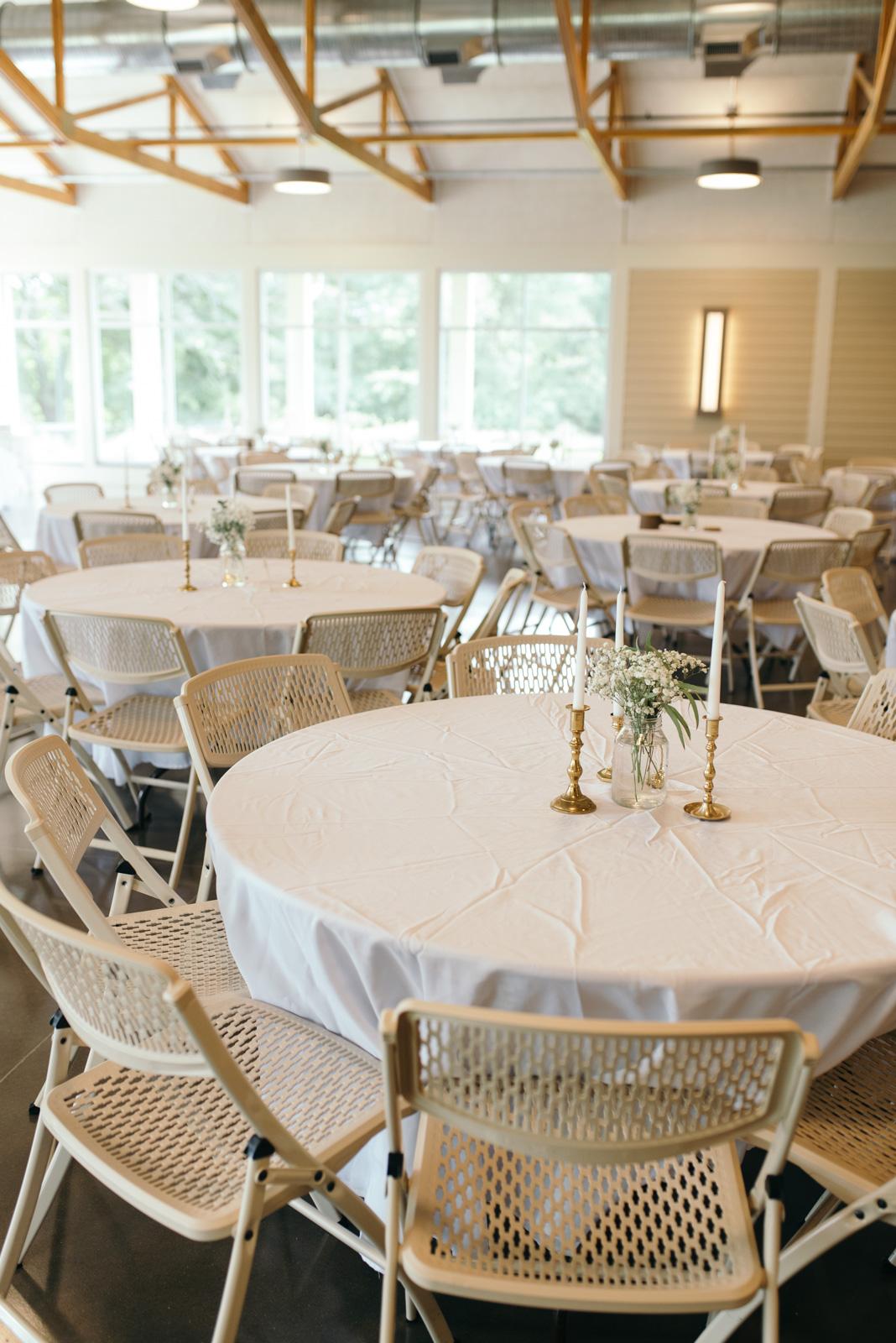 Ushers Ferry Historic Village Wedding Reception tables