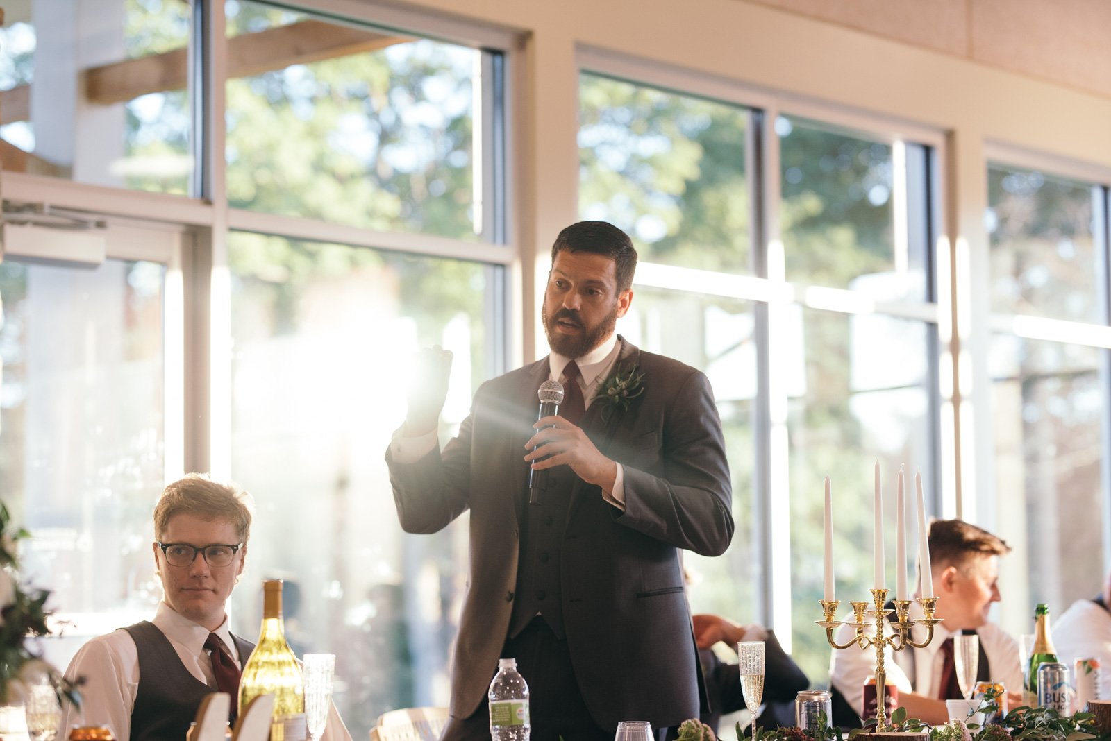 wedding reception speeches Ushers Ferry Historic Village wedding venue