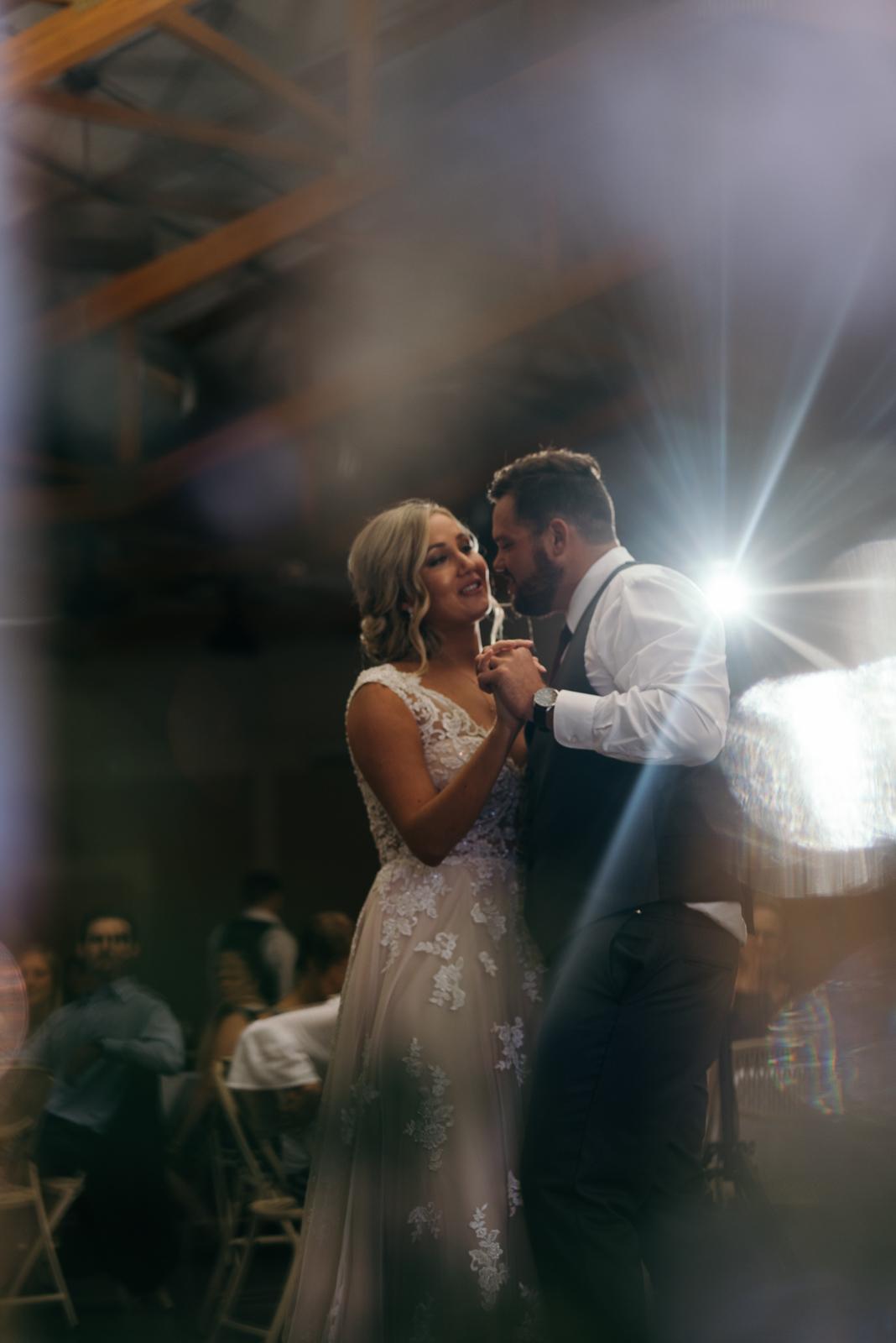 first dance Ushers Ferry Historic Village wedding venue