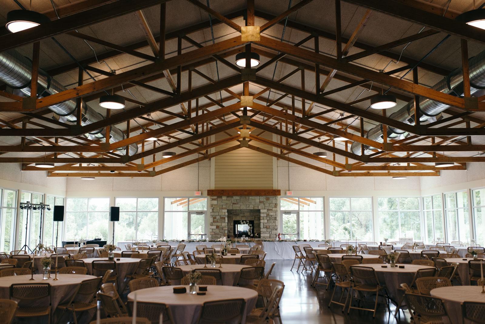 Ushers Ferry Historic Village Wedding Reception Setup