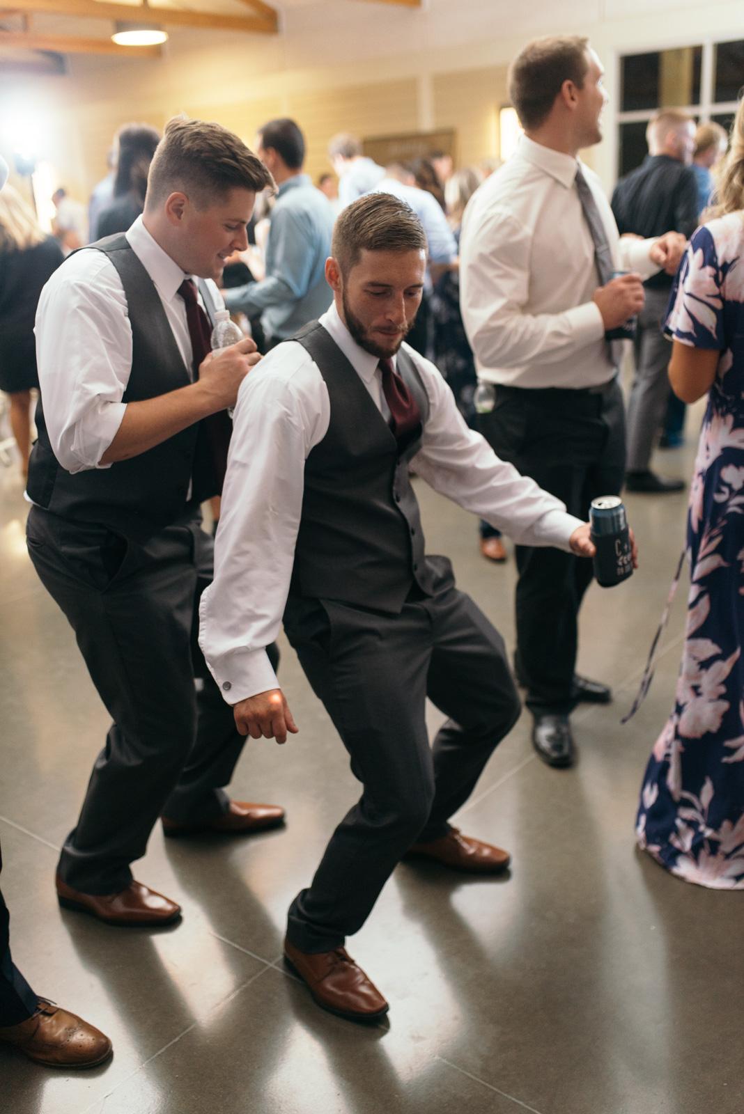 wedding guests dancing cedar rapids wedding reception