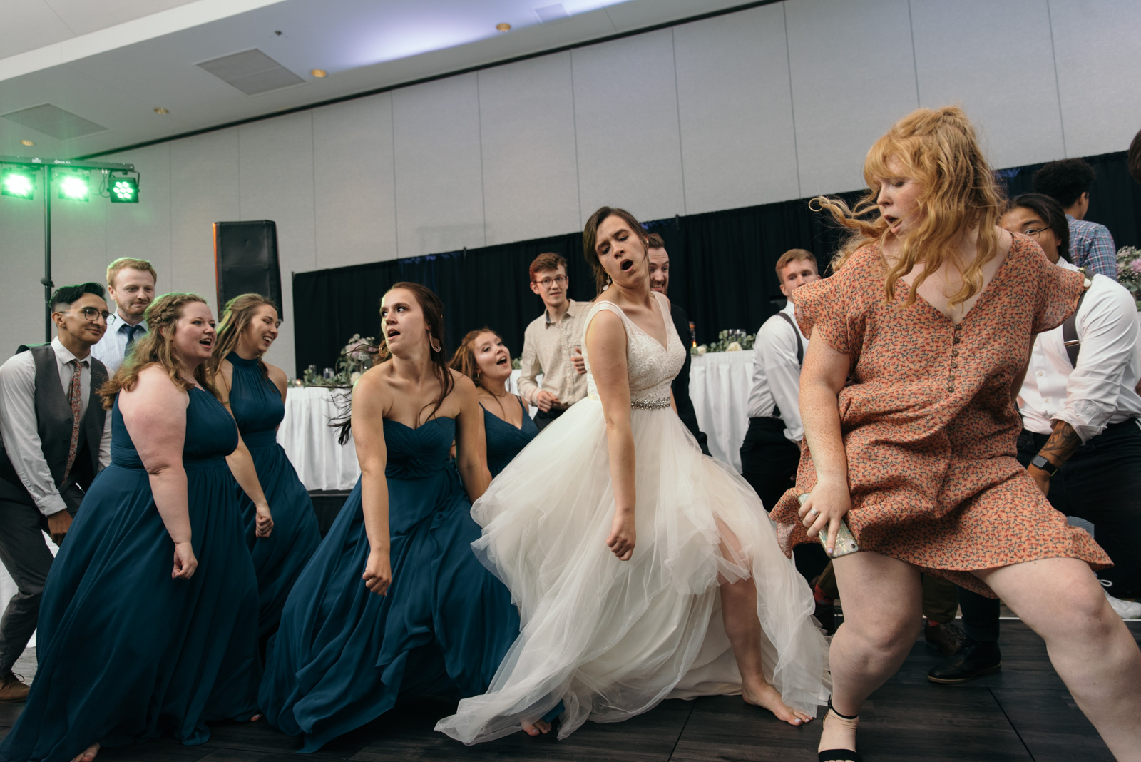 epic wedding dance off iowa wedding