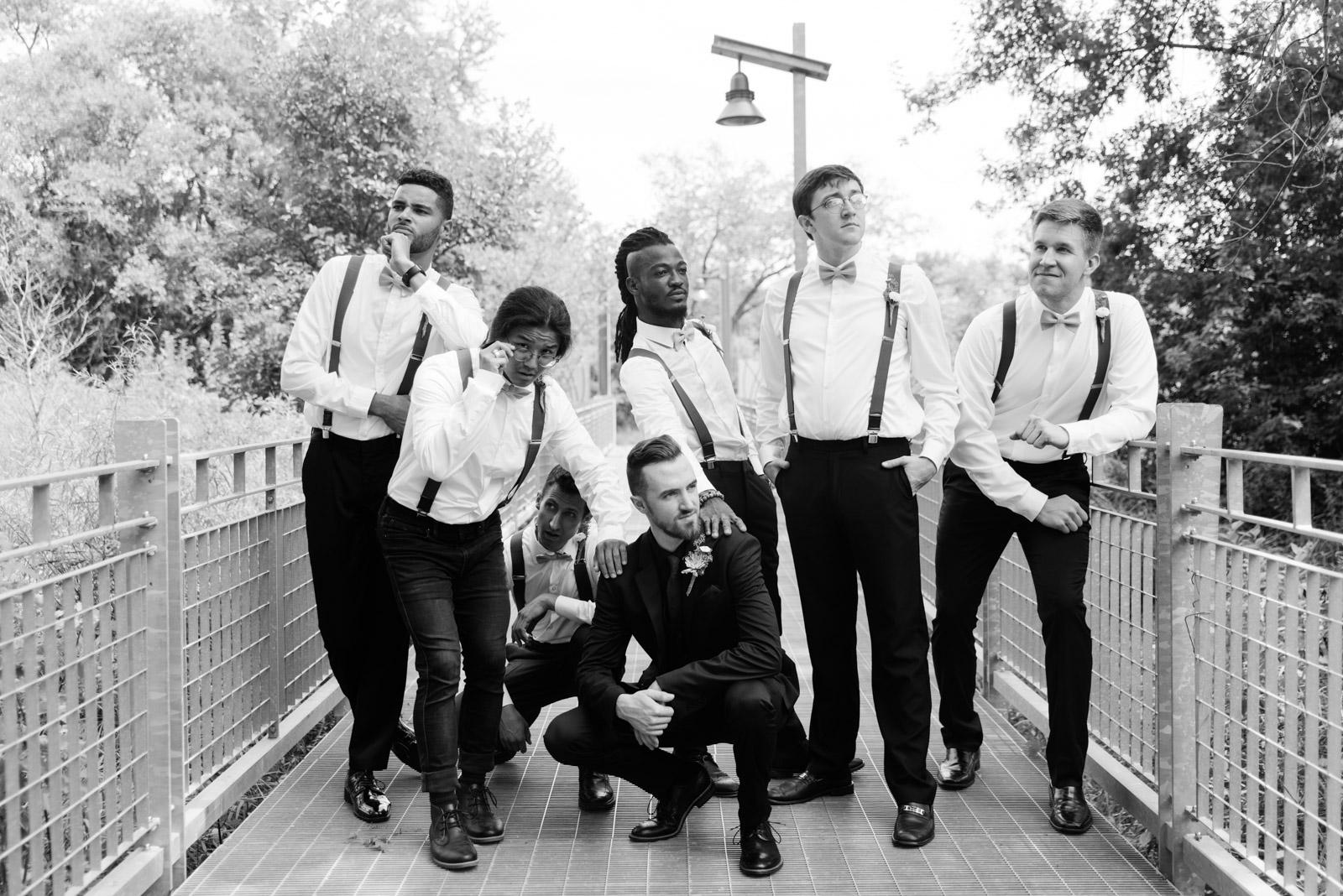 groom and groomsmen Iowa august wedding
