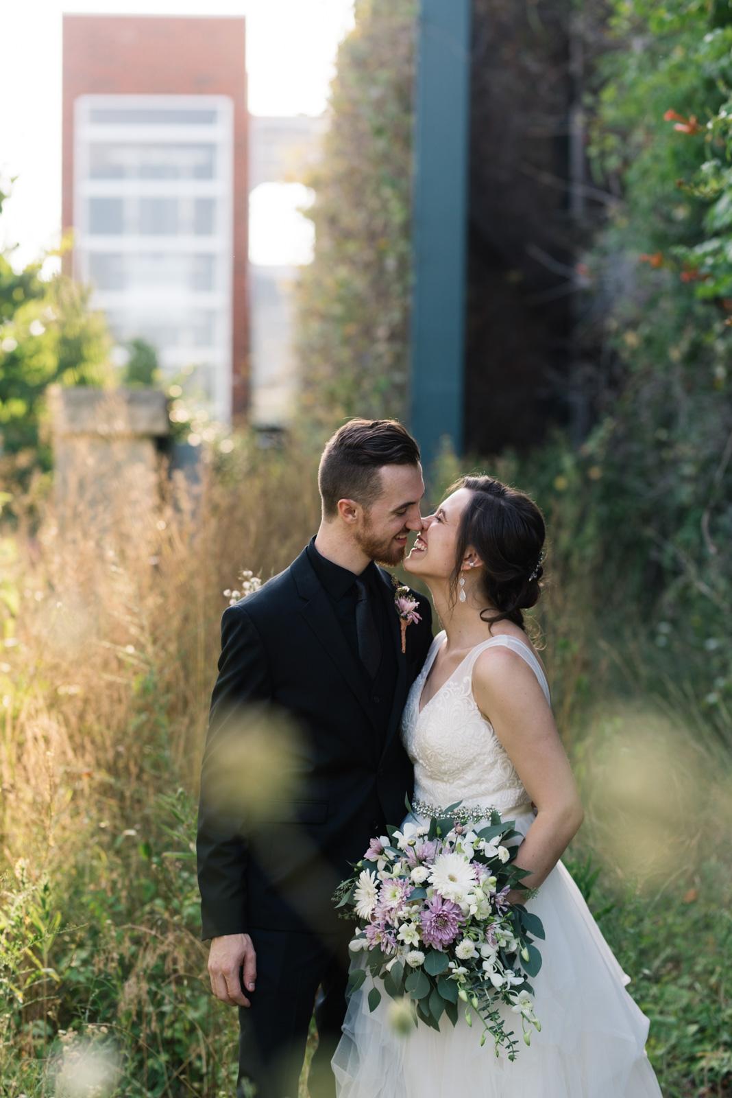 bride and groom Coralville Marriott Hotel wedding venue
