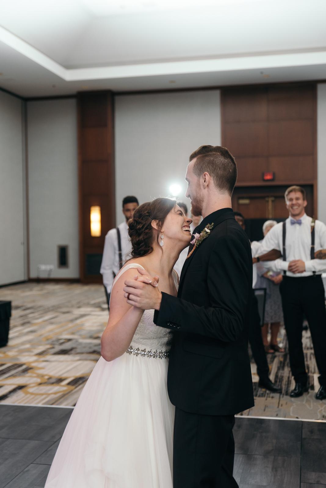 first dance Coralville Marriott Hotel wedding reception