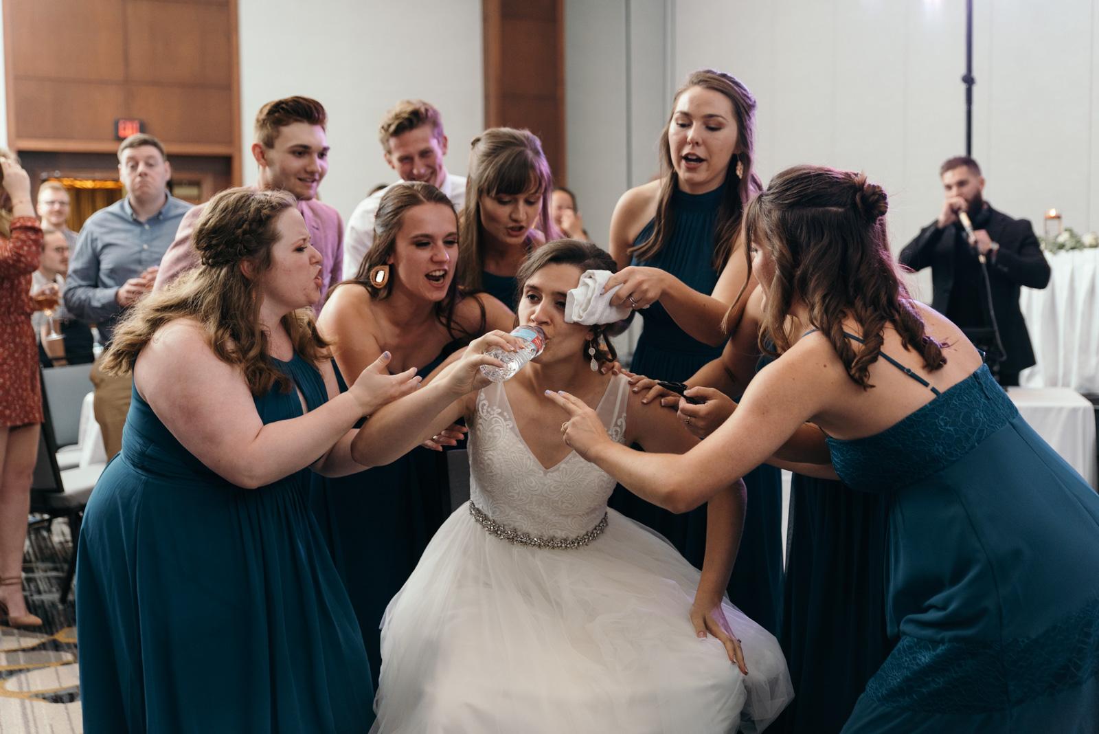 wedding dance battle Coralville Marriott Hotel wedding reception