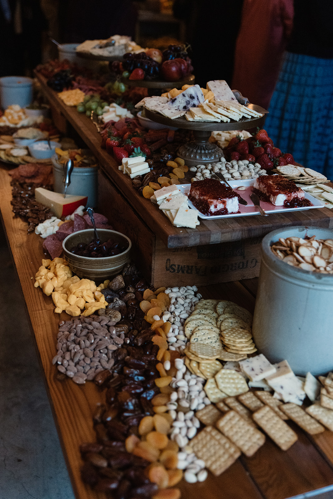 charcuterie table iowa fall wedding