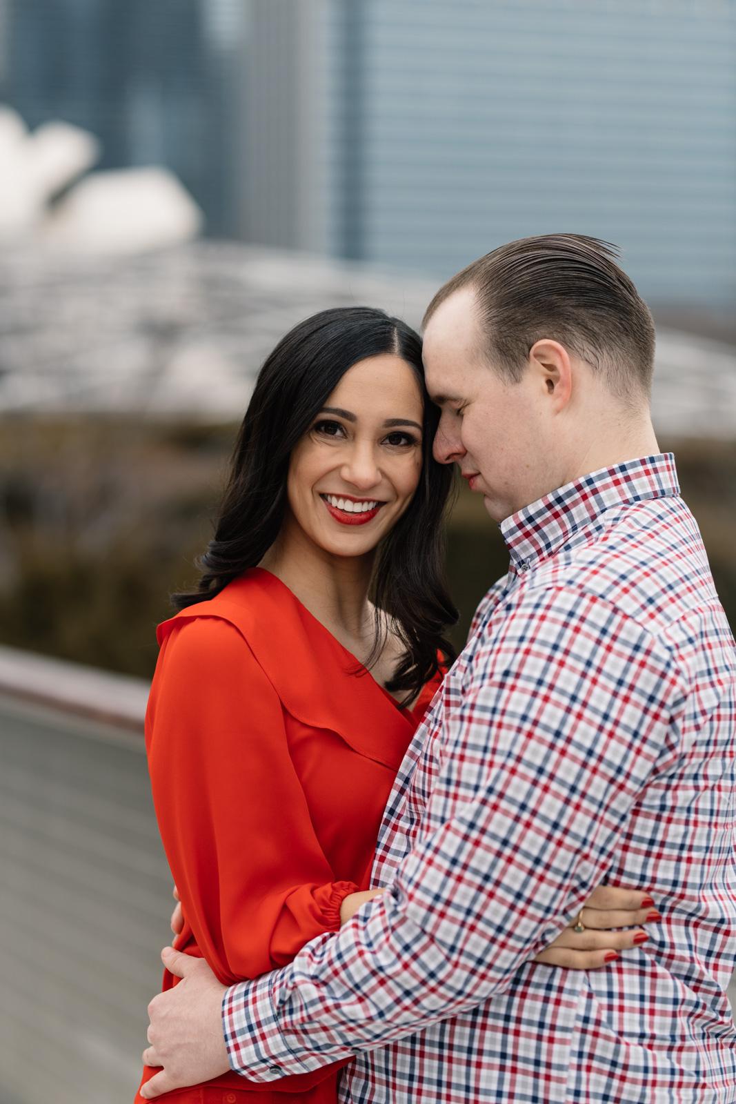 couple chicago February engagement