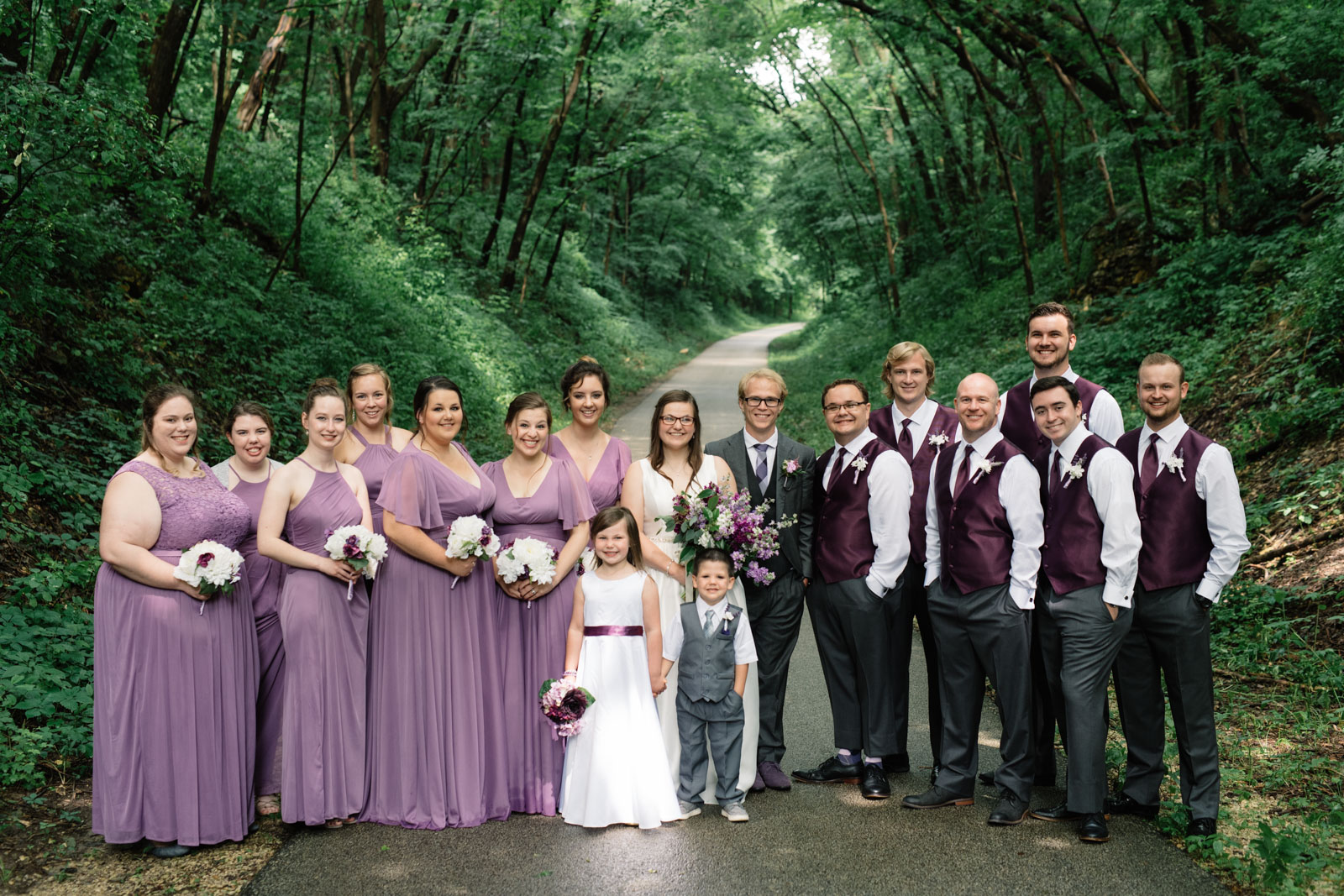 bridal party waverly june wedding
