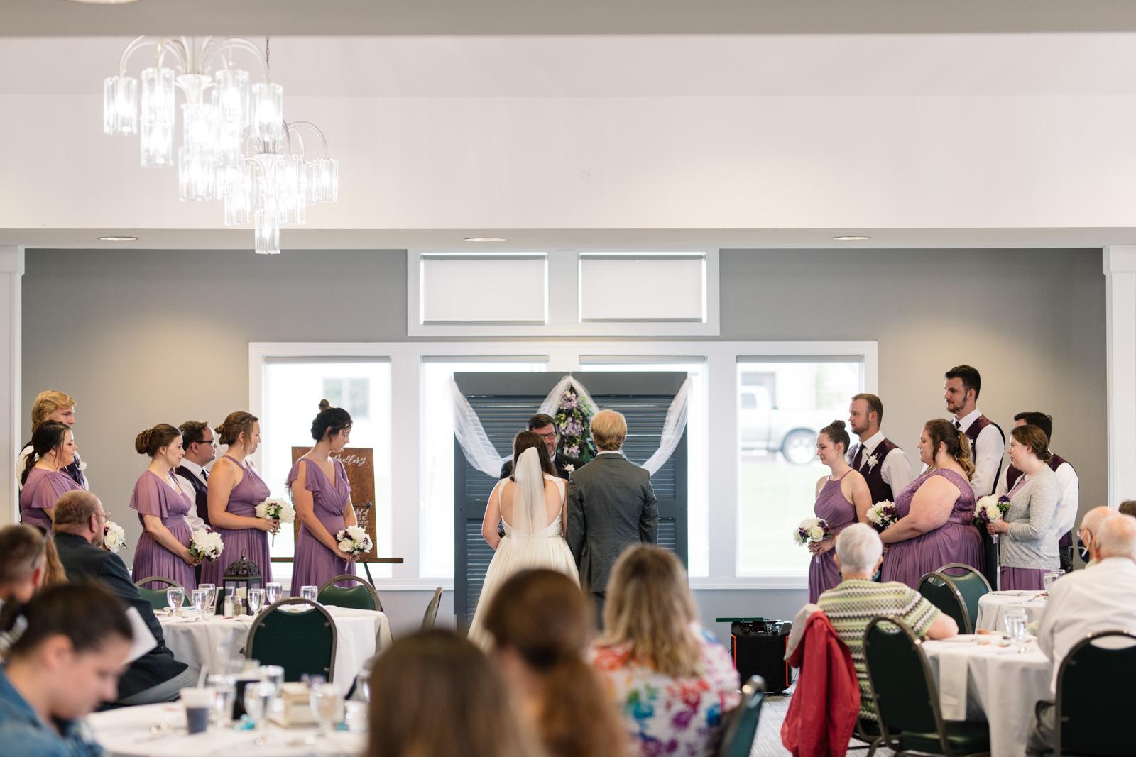 wedding ceremony at fox ridge golf course wedding venue