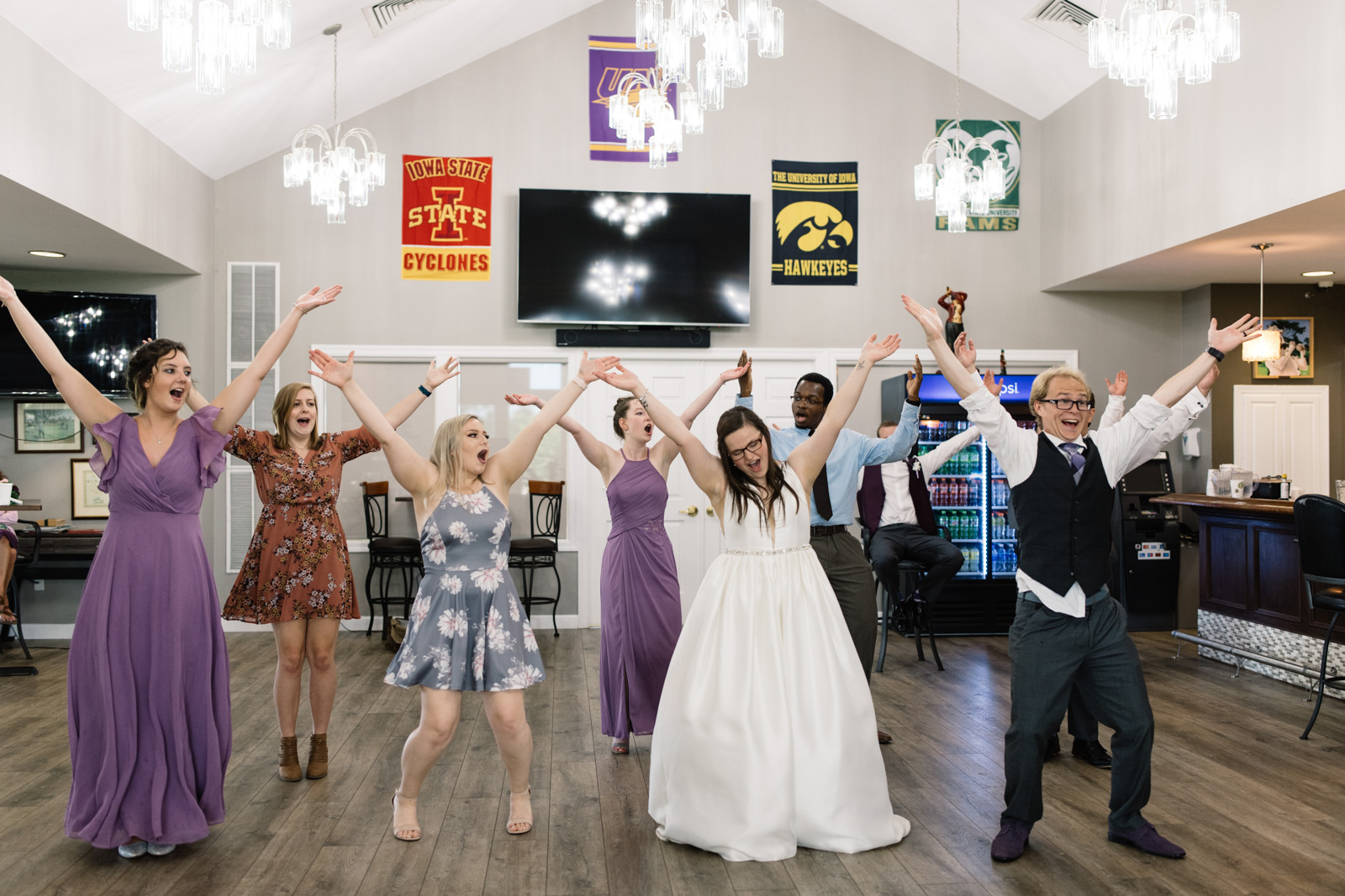 dancing at fox ridge golf course wedding reception