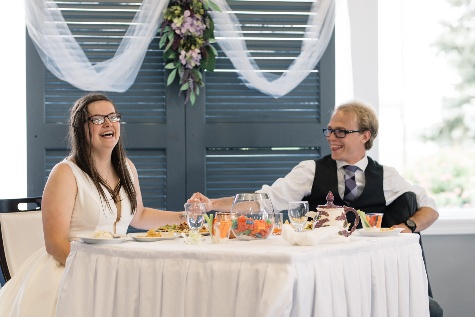 bride and groom fox ridge golf course wedding reception