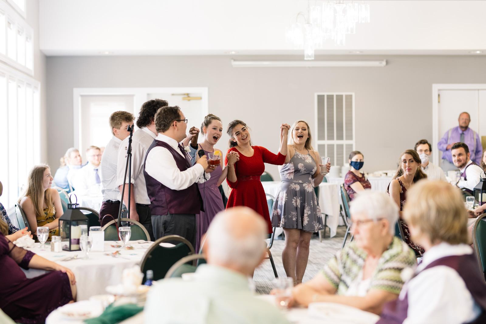 wartburg choir at fox ridge wedding reception