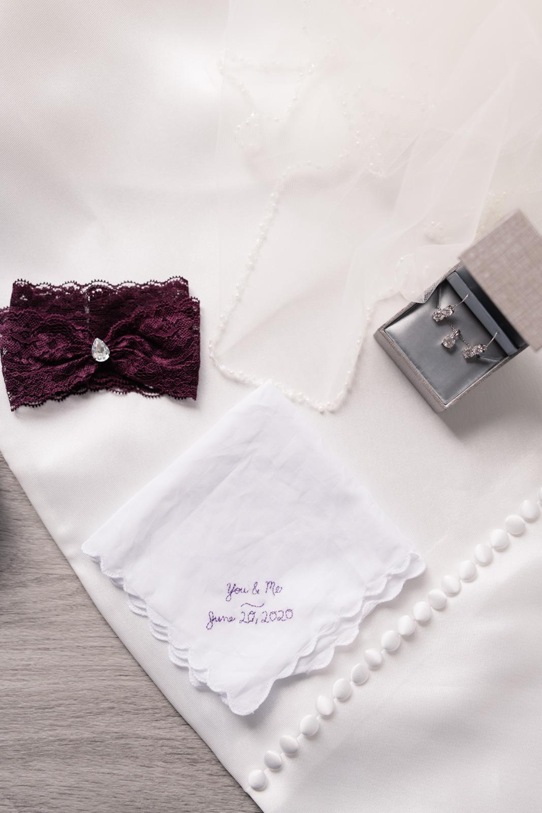 bridal accessories on wedding dress iowa june wedding