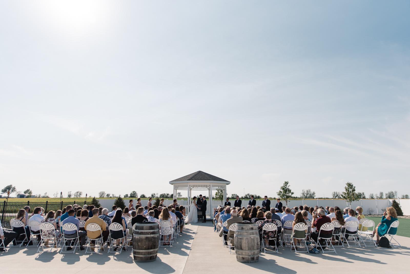 outdoor gazebo wedding ceremony epic event center wedding venue