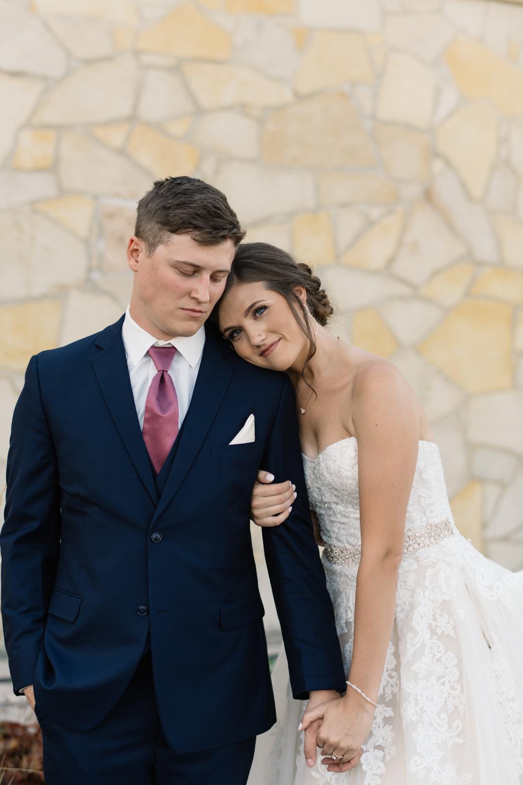 bride and groom portrait cedar rapids wedding