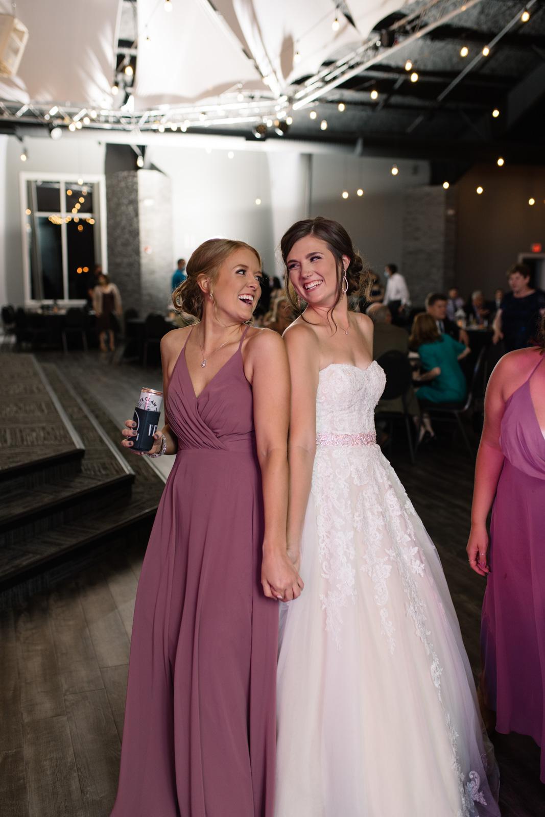 bride dancing at wedding reception epic event center cedar rapids wedding reception