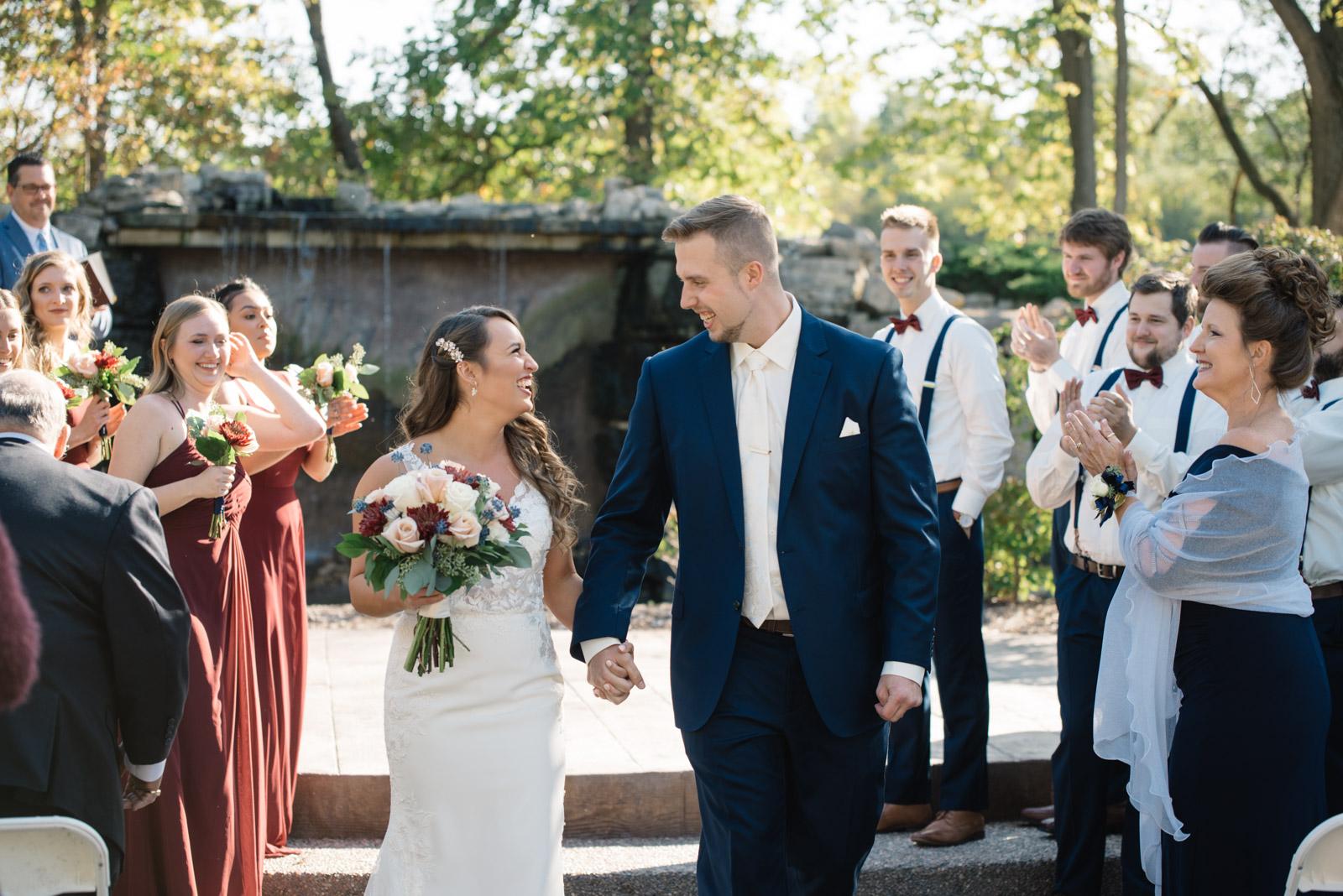 outdoor ceremony bella sala wedding venue tiffin iowa