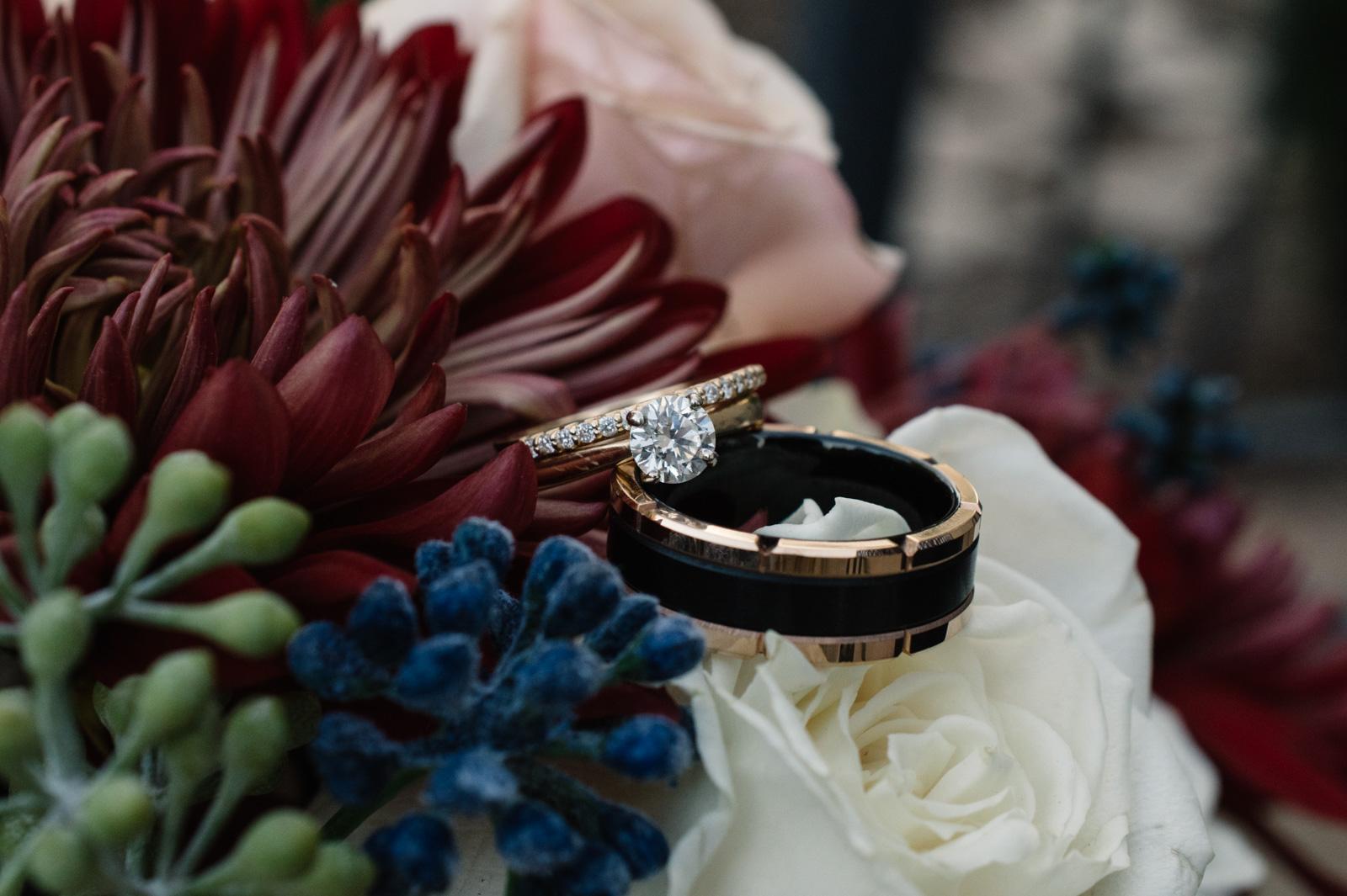 wedding rings in fall wedding bouquet bella sala wedding venue in tiffin iowa